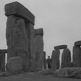 Stonehenge - location still from Night of the Demon (1957)