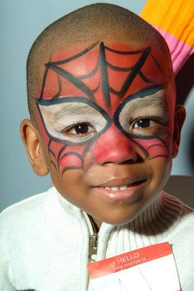 face painting spiderman boy schminken pinterest boys spiderman and face painting spiderman. Black Bedroom Furniture Sets. Home Design Ideas