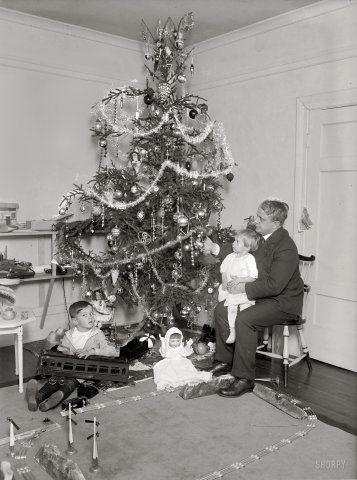 Christmas 1921 for the James J. Davis family of Washington DC. The boy seems