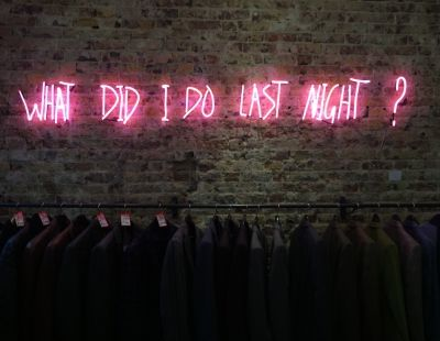 What Did I Do Last Night ? • Andy Doig - hangover - neon