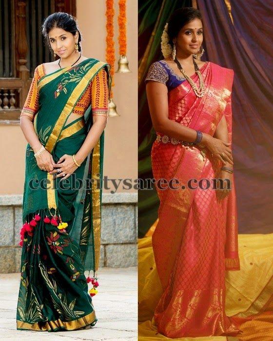 Smitha Singer Kollam Pattu Saris | Saree Blouse Patterns
