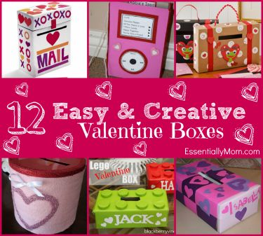 12 Easy & Creative Valentine Boxes for School