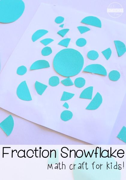 Create a unique one-of-a-kind snowflake all while leaning about fractions- whole, half, & quarter!