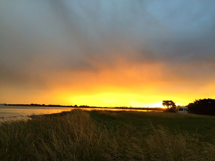 Sunset, Lake Ellesmere, Canterbury