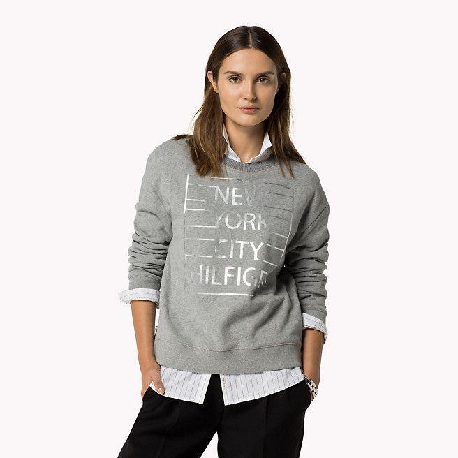 Tommy Hilfiger Baumwolle Sweatshirt - light grey htr (Grau) - Tommy Hilfiger Sweatshirts - Hauptbild