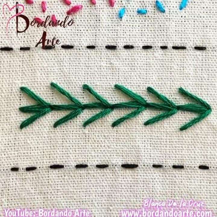 41 puntadas de bordado para tu muestrario - YouTube Hand Embroidery Patterns Flowers, Hand Embroidery Videos, Embroidery Stitches Tutorial, Embroidery Sampler, Creative Embroidery, Simple Embroidery, Hand Embroidery Stitches, Hand Embroidery Designs, Embroidery Techniques