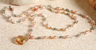 Projects - Single-Strand Necklace with Swarovski® Crystals, Pearls and Metal Spacer Beads - Fire Mountain Gems and Beads