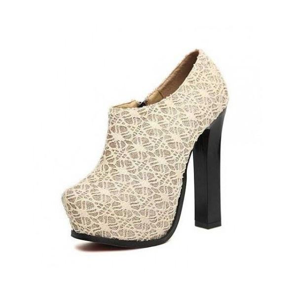 Golden Fashionable Short Boots ($44) via Polyvore