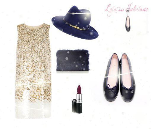 As nossas Sabrinas Mirtilo não resistem a um vestido brilhante. Aqui fica a nossa sugestão para a noite de Reveillon. Um look confortável e cheio de glamour! Descobre-as aqui: http://www.lojadassabrinas.com/product/mirtilo