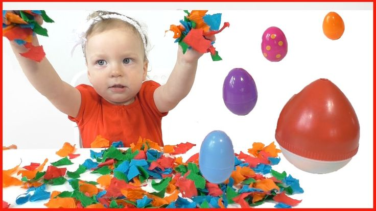 Learn Colors with Surprise Eggs for Children, Toddlers - Learn Sizes wit...