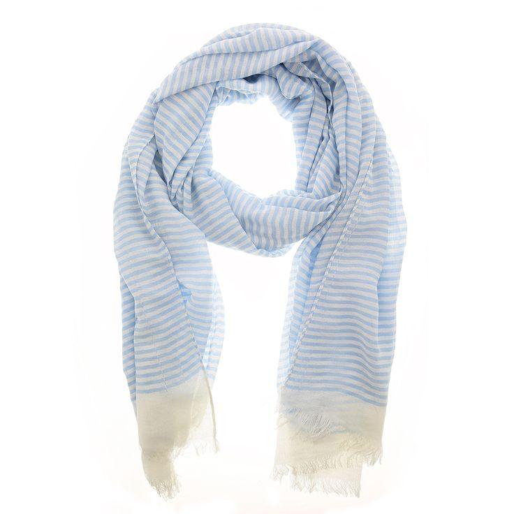 Witte sjaal met blauwe strepen van Otra Cosa – 1132