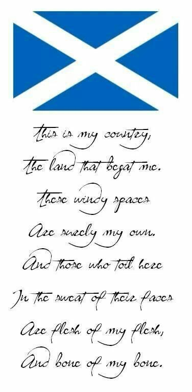 Scotland. I wish. I'm English and I'm proud that my family is rooted throughout all of these beautiful islands, no it is 'our' country to separate us is to split up a family