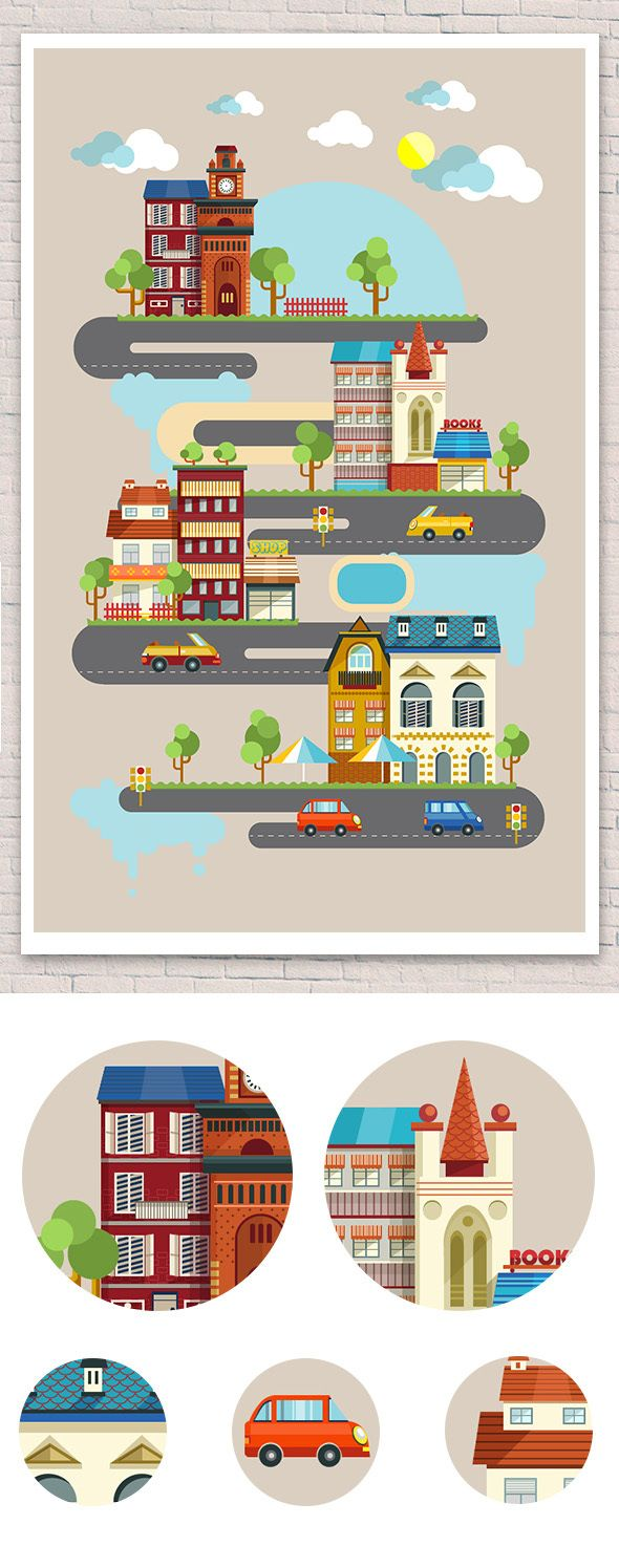 City Infographic by Diana Costin, via Behance