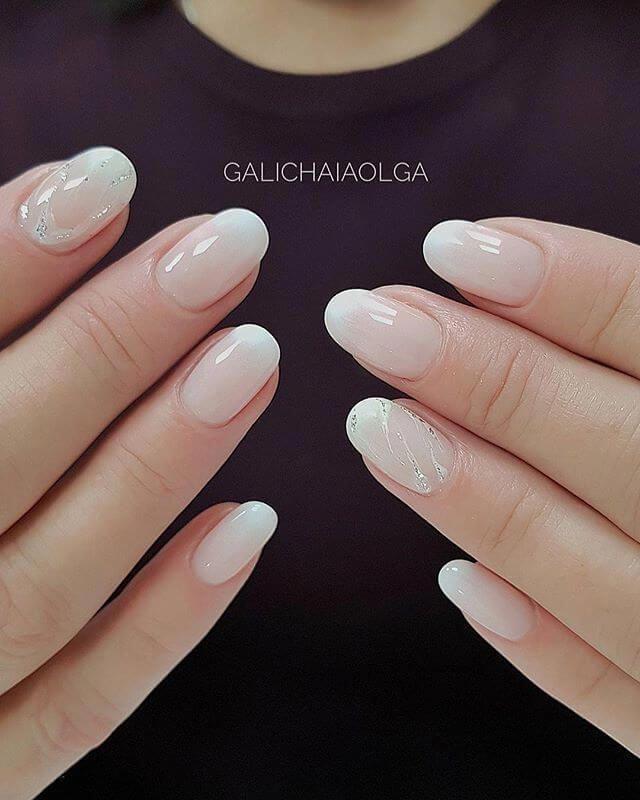 50 Trendy Nail Art Designs To Make You Shine Translucent White Nails With Subtle Shine Naildesign Nailart Trendy Nail Art White Acrylic Nails White Nails