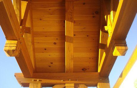 Portique d'entrée Timber Frame