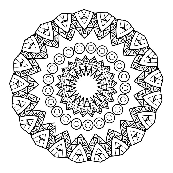 5 Free Printable Coloring Pages: Mandala Templates ... | free coloring pages mandala printable