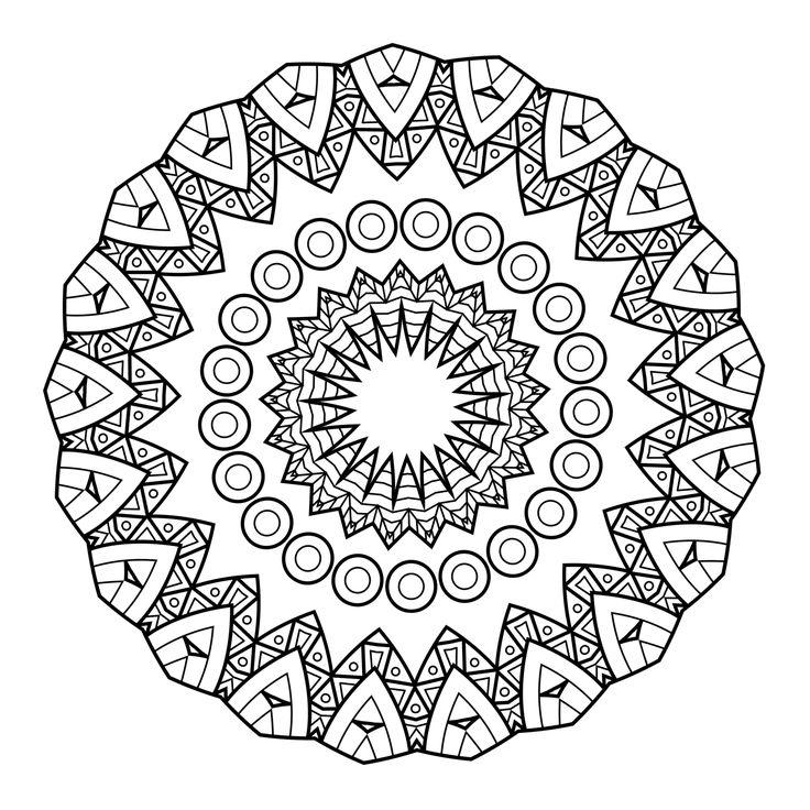 5 Free Printable Coloring Pages: Mandala Templates ... | free coloring pages mandalas
