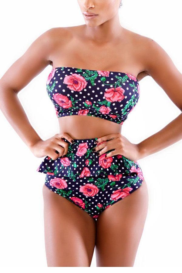 $25.55 (Buy here: https://alitems.com/g/1e8d114494ebda23ff8b16525dc3e8/?i=5&ulp=https%3A%2F%2Fwww.aliexpress.com%2Fitem%2FPush-Up-Bikini-Swimsuit-2015-Maillot-De-Bain-Rose-Pattern-Polka-Dot-High-waisted-Peplum-Bikinis%2F32643371797.html ) Push Up Bikini Swimsuit 2015 Maillot De Bain Rose Pattern Polka Dot High-waisted Peplum Bikinis LC4272 Swimming Suit For Women for just $25.55