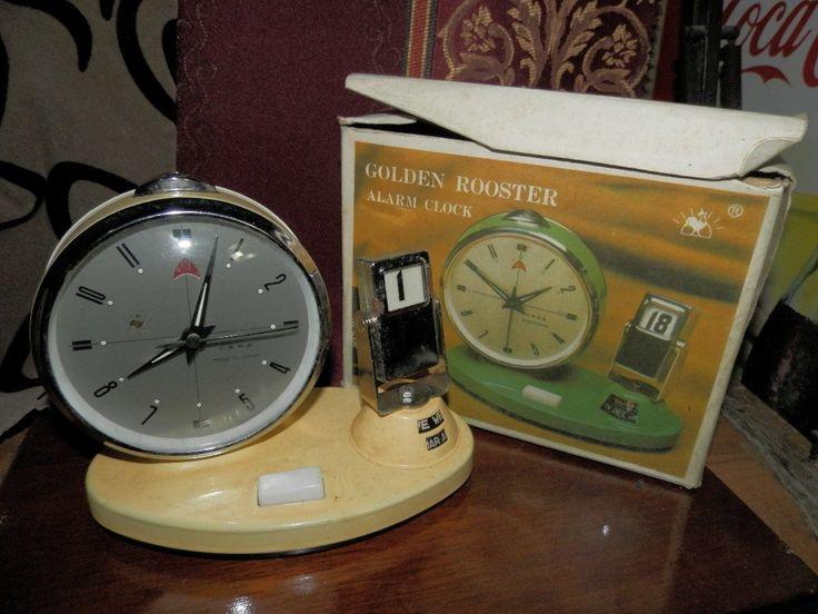 Reloj Despertador Antiguo Con Calendario - $ 75.000 en MercadoLibre