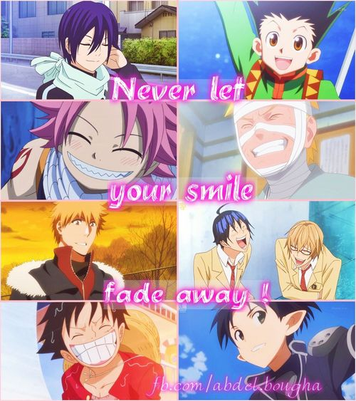 smiles. haha.