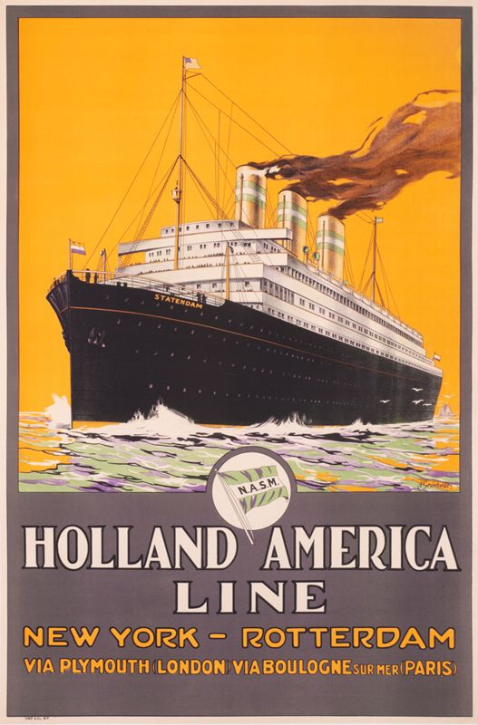 Holland American Line New York - Rotterdam by Gronholdt, A. | International Poster Gallery