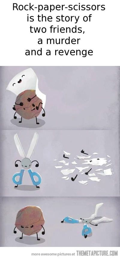 The true story of Rock, Paper, Scissors…