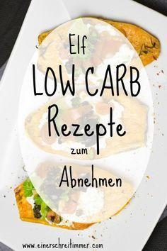 Sammlung von Low Carb Rezepten zum Abnehmen
