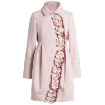 I Pinco Pallino Girls Pink Wool Coat  at Childrensalon.com