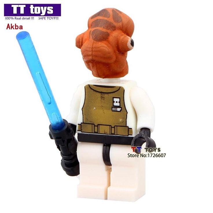 Single Sale Admiral Akbar With Lightsaber Mini Dolls Building Blocks Model Toys Bricks Kids Education Learning Toys