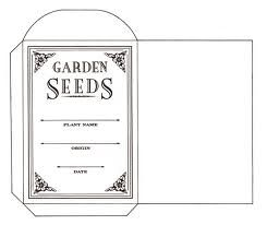 Seed packet template for seed storage
