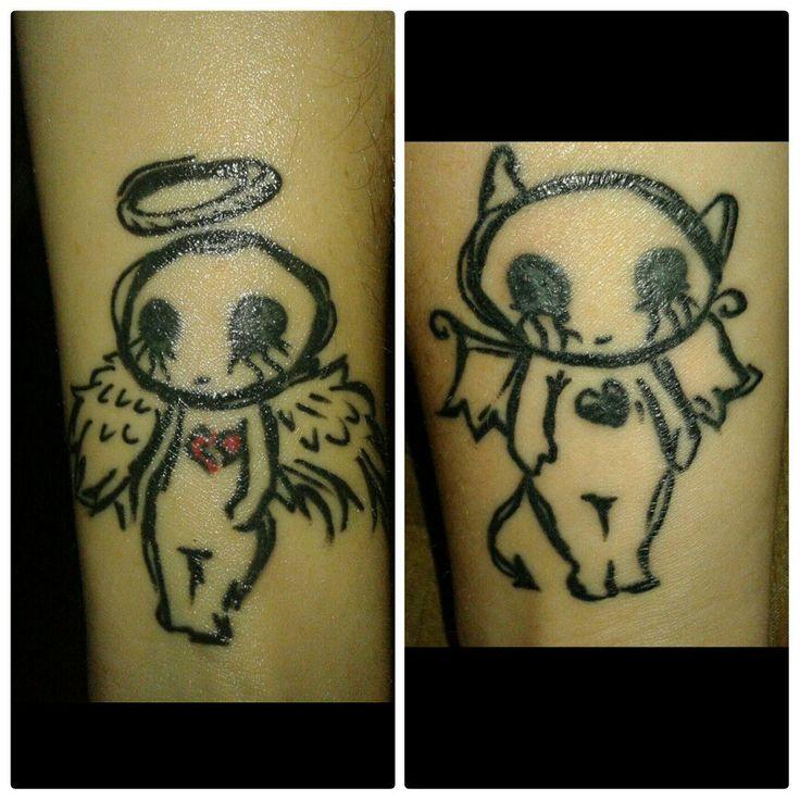 Best 25+ Angel Devil Tattoo Ideas On Pinterest