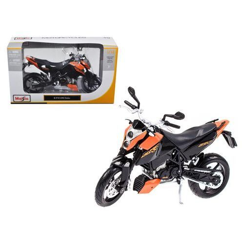 KTM 690 Duke Orange / Black Motorcycle 1/12 Diecast Model by Maisto