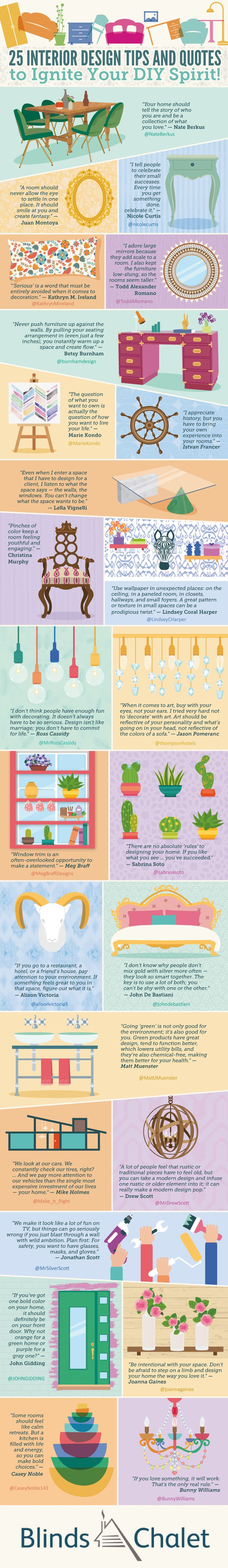25 Interior Design Tips And Quotes To Ignite Your DIY Spirit Infographic