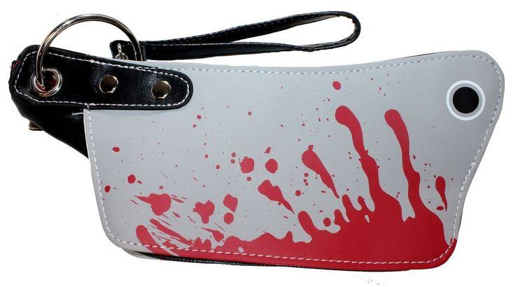 Mini Bloody Cleaver Clutch Purse Halloween Handbag Kreepsville Horror Fashion #Kreepsville666 #CosmeticBags