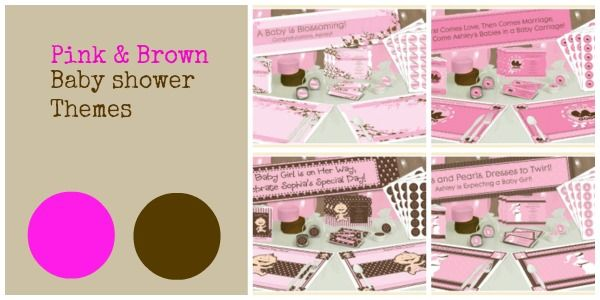 pink brown baby shower ideas on pinterest circle garland pink