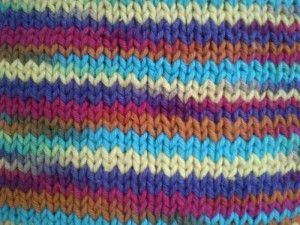 Motif Stockinette Stitch, right side, knit stitch