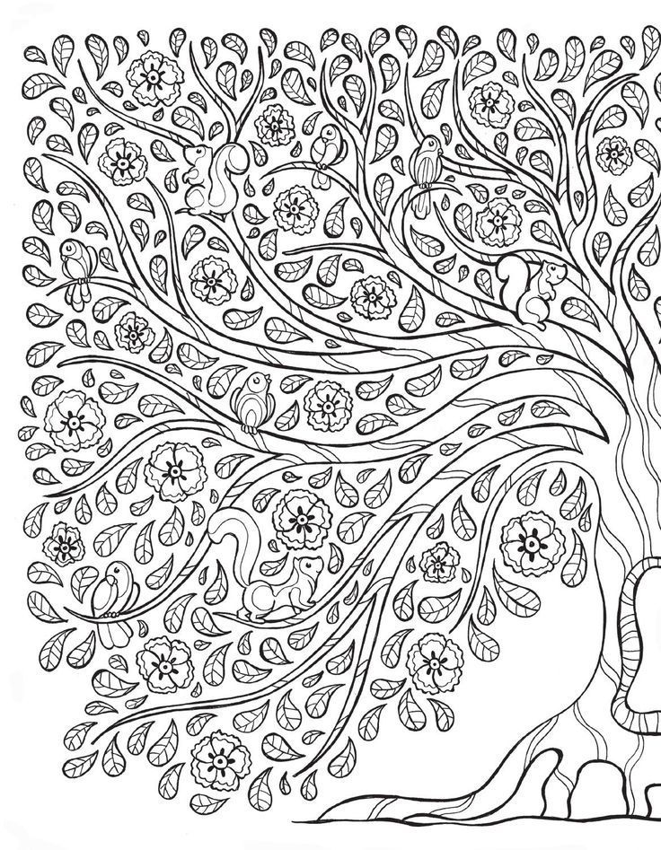 leaf coloring pages for adults - photo#14
