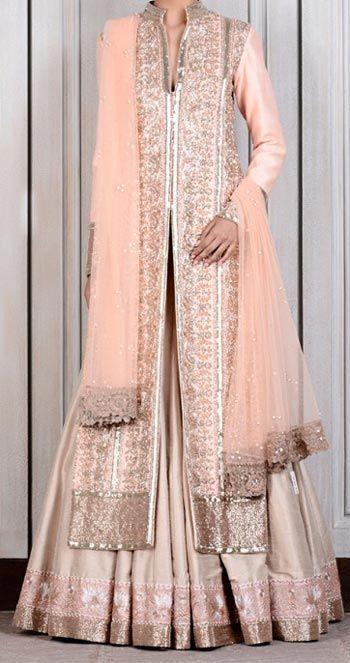 Wedding Dresses Open Shirt by Manish Malhotra Bridal Collection 2015