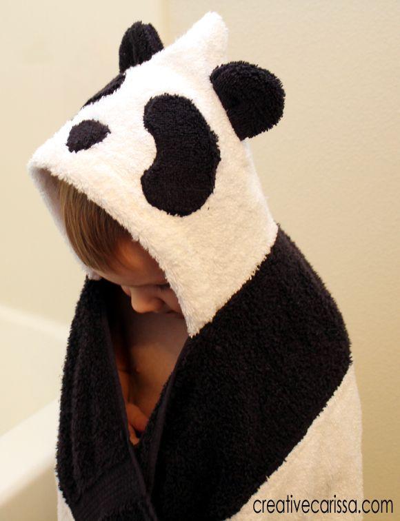 Make a Panda Bear Hooded Towel ~ Creative Green Living