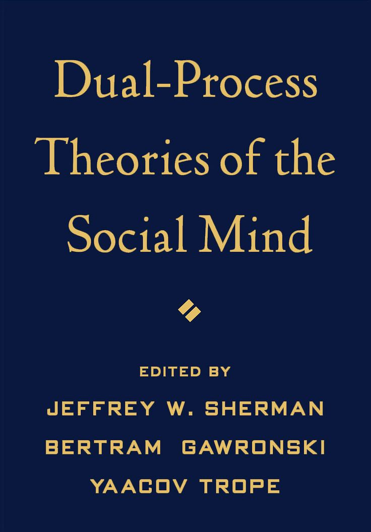 Sherman, J. W, Gawronski, B., & Trope, Y. Dual-process theories of the social mind. New York (N.Y.): Guilford press.