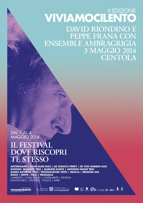 Viviamocilento — Series of posters for a music festival from Italy, by Marina Soto