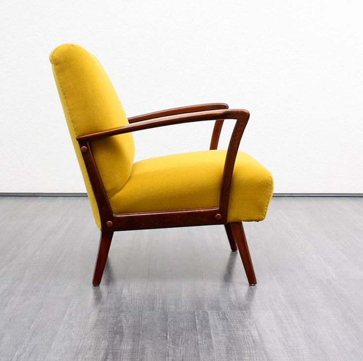 34 best fauteuil jaune images on pinterest armchairs furniture and salons - Fauteuil vintage jaune ...
