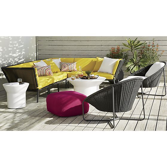 Lounge ii leather 3 seat 105 grande sofa coffee tables for Crate and barrel armless chair