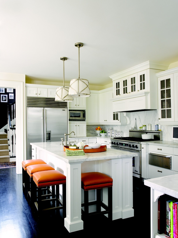 Add Your Kitchen With Kitchen Island With Stools: Like The Island And Seating, Could Then Do Away With My