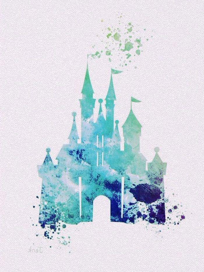Disney Tattoo Vorlagen Disney Schloss Silhouette 3