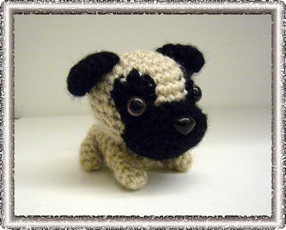 Amigurumi Free Patterns Dog : Amigurumi Dog (Pug) Kid Stuff Pinterest