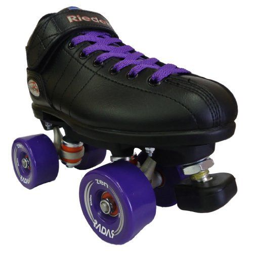 Riedell R3 Zen Purple Outdoor Speed Skates - R3 Zen Roller Derby Skate by Riedell. $139.00. Riedell R3 Zen Outdoor Speed Skates - Black Boots with Purple Radar Zen Outdoor 85A Wheels and Purple Laces - Check out the brand new awesome outdoor roller skate setup from Riedell skates. The Riedell R3 Zen speed skate offers the most popular roller skate on the market today and pairs that with some of the most trusted Radar outdoor wheels available today - the Radar Zen 85A outdoo...
