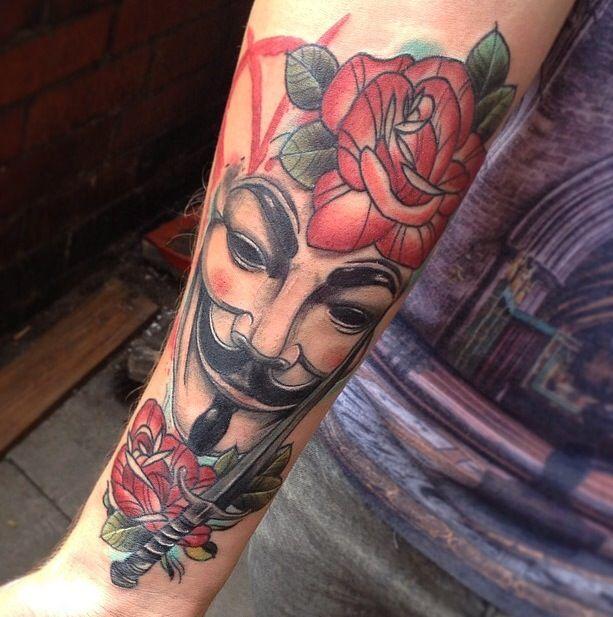 V for vendetta #vforvendetta #tattoo #film #neotraditional
