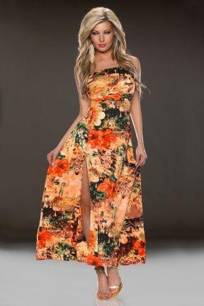 Maxi jurk oranje