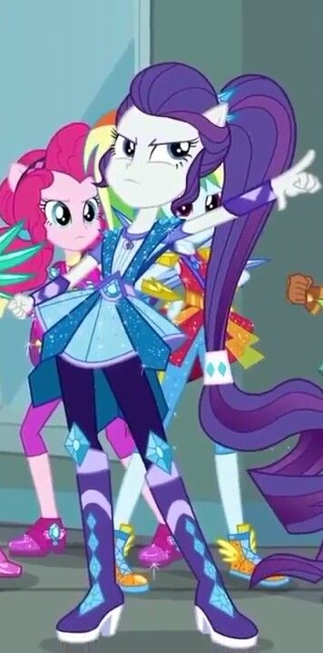 #1565646 - clothes, cropped, equestria girls, female, high heels, pinkie pie, ponied up, pony ears, rainbow dash, rarity, safe, screencap, shoes, spoiler:eqg series - Derpibooru - My Little Pony: Friendship is Magic Imageboard